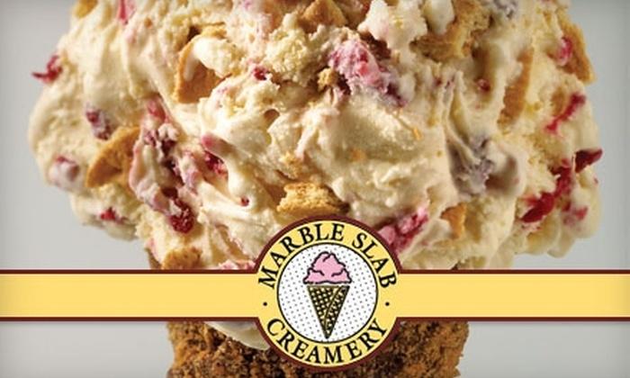 Marble Slab Creamery - Multiple Locations: $5 for $10 Worth of Ice-Cream Treats at Marble Slab Creamery