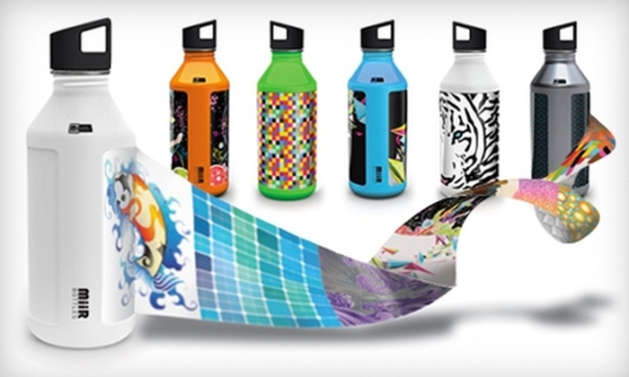 MiiR: Stainless-Steel Water Bottle with Personalized Skin from MiiR. Two Options Available.