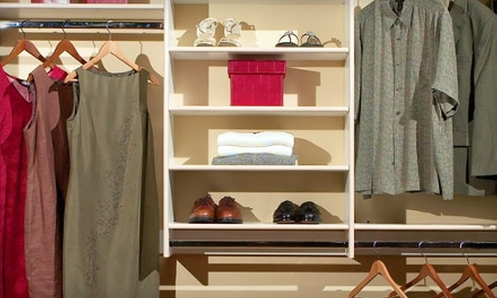 Classy Closets - Multiple Locations: $149 for a Basic Reach-In Closet System from Classy Closets ($400 Value)
