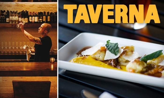 Taverna - San Marco: $20 for $40 Worth of Seasonal Mediterranean Fare and Drinks at Taverna