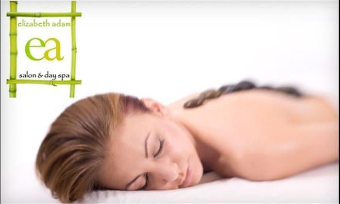 Elizabeth Adam Salon and Day Spa - Near North Side: $130 for a Hot Stone Massage, Deep Pore Facial, and Pedicure at Elizabeth Adams Salon and Day Spa ($263 Value)