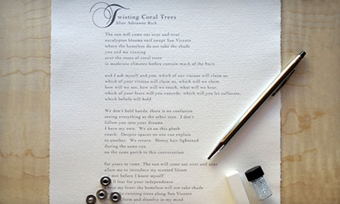 Poetry Salon: $125 for One Basic Bespoke Poem from Poetry Salon ($250 Value)