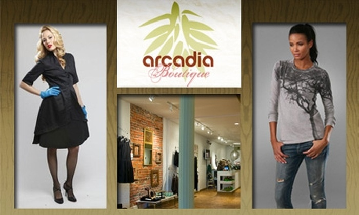 Arcadia Boutique - Northern Liberties/ Fishtown: $25 for $50 Worth of Eco-Friendly Clothing at Arcadia Boutique