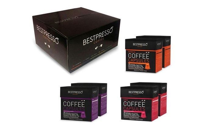 bestpresso nespresso capsule intense variety pack 120 pack groupon. Black Bedroom Furniture Sets. Home Design Ideas