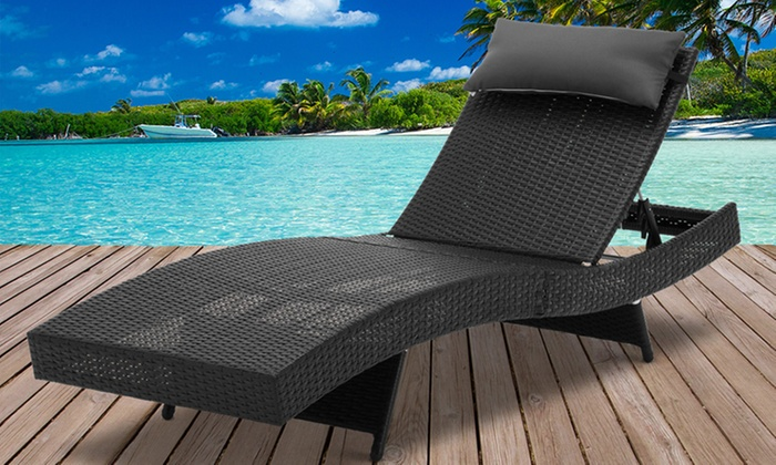 Outdoor pool bed groupon for Outdoor pool bed