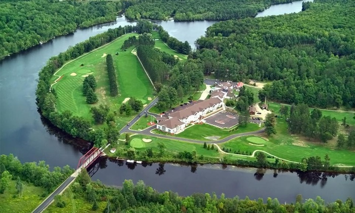 The Four Seasons Island Resort - Pembine, WI: One- or Two-Night Stay with Welcome Drinks or Unlimited Golf at The Four Seasons Island Resort in Pembine, WI