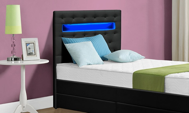 pin t te de lit lumineuse avec leds on pinterest. Black Bedroom Furniture Sets. Home Design Ideas