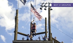 Evergreen Sportsplex: Zipline and Ropes Course for One, Two, or Four at Evergreen Sportsplex (Up to 49% Off)