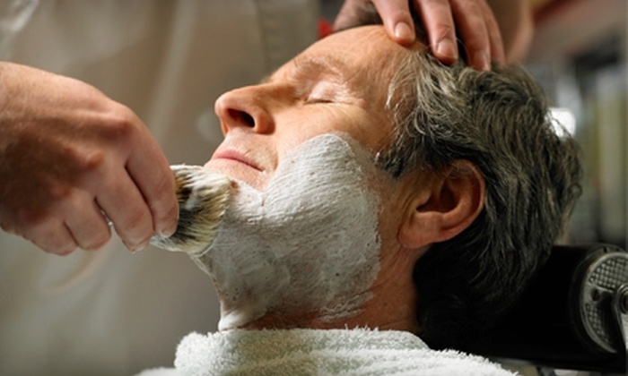 ê Shave - Multiple Locations: $15 for a Signature Shave Package ($30 Value) or $25 for a Signature Shave & Haircut ($55 Value) at ê Shave