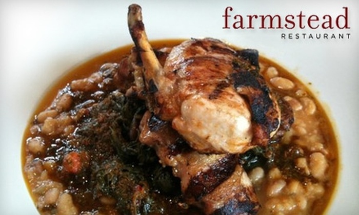Farmstead Restaurant - St. Helena: $25 for $50 Worth of Locally Sourced Dinner and Drinks at Farmstead Restaurant (or $12 for $24 Worth of Lunch Fare)