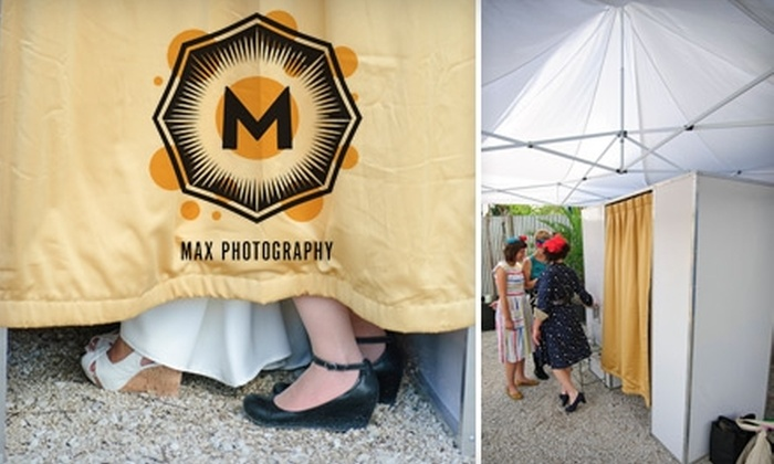 Max Photography - Austin: $349 for a Three-Hour Digital Photobooth Rental from Max Photography ($750 Value)