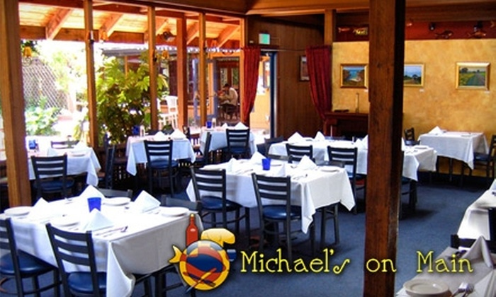 Michael's on Main - Santa Cruz: $15 for $30 Worth of Upscale Comfort Fare and Drinks at Michael's on Main