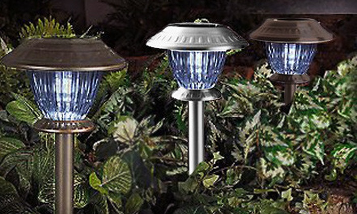 Lamplust: Set of 12 Westinghouse LED Solar Lights in Bronze or Stainless Steel with Three Light Settings from Lamplust (41% Off)