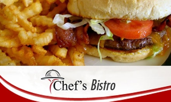 Chef's Bistro - West Bluff: $8 for $20 Worth of Home-Style Breakfast and Lunch Fare at Chef's Bistro