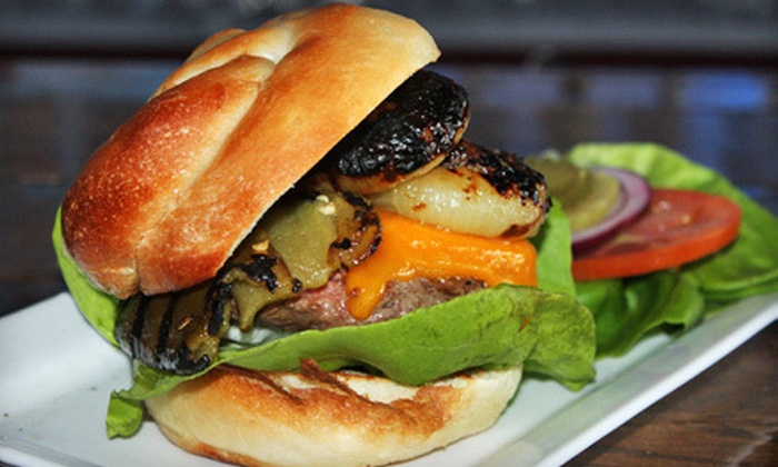 charr, an American Burger Bar - North Mountain: Charred Chicken Wings or Burger Sliders with Drinks for Four or $10 for $20 Worth of American Pub Cuisine at charr, an American Burger Bar