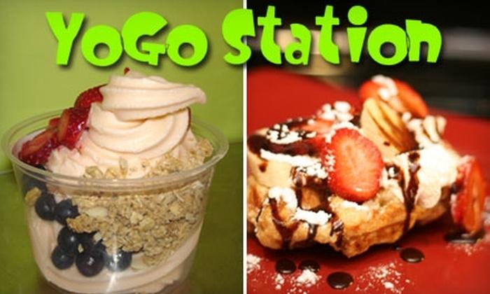YoGo Station - Oak Park: $5 for $10 Worth of Frozen Yogurt and Smoothies at YoGo Station in Oak Park