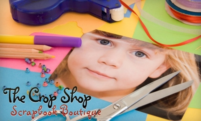 The Crop Shop - Hoboken: $75 for a Custom Scrapbook at The Crop Shop in Hoboken ($175 Value)