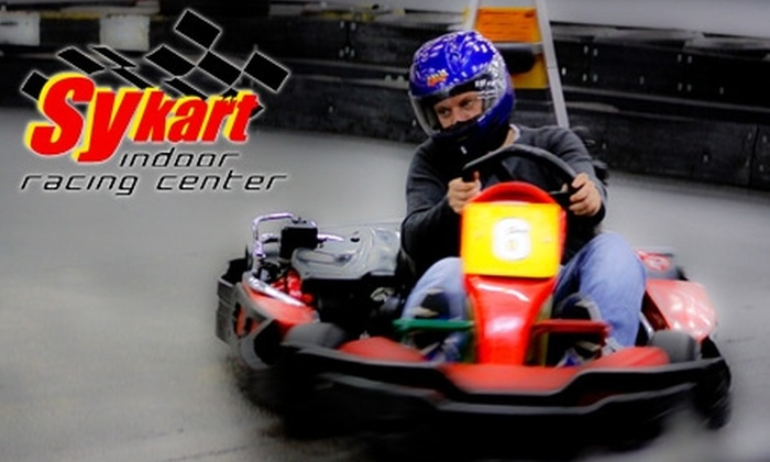 Sykart Indoor Racing Center - Metzger: $20 for Three Go-Kart Races and a Rental Helmet with Liner at Sykart Indoor Racing Center in Tigard ($47 Value)