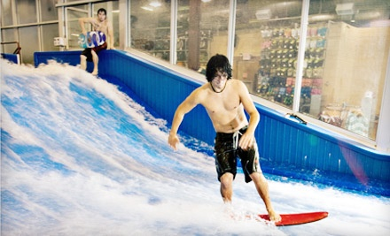 Two 30-Minute Sessions on the FlowRider Indoor Surfing Machine on Monday-Friday (a $40 value) - AquaShop in Plano