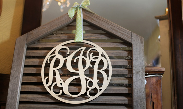 CraftCuts.com: $25 for $50 Toward Vine Monogram Wall Art from CraftCuts.com