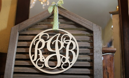 $25 for $50 Toward Vine Monogram Wall Art from CraftCuts.com