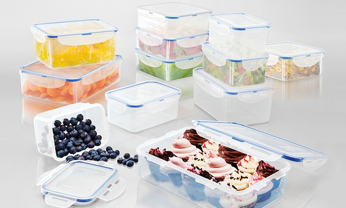 Delicieux Lock U0026 Lock 24 Piece Food Storage Set