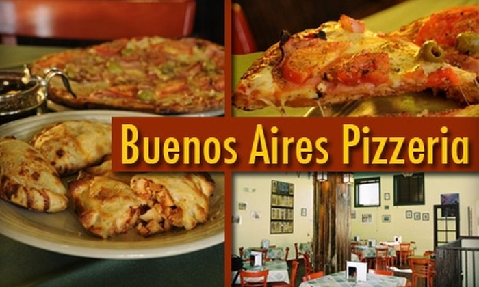 Buenos Aires Pizzeria - Five Points: $9 for $20 Worth of Authentic Argentinean Flavors at Buenos Aires Pizzeria