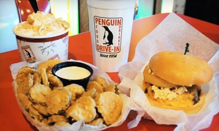 The Penguin Drive-In - Commonwealth: $9 for $18 Worth of American Diner Fare at The Penguin Drive-In