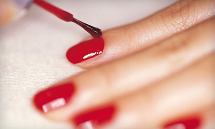 Moxie Hair Studio - Lawrence: Two Shellac Manicures or a Hair-Coloring Package at Moxie Hair Studio