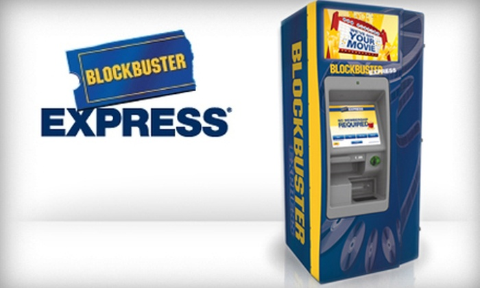 BLOCKBUSTER Express - Macon: $2 for Five $1 Vouchers Toward Any Movie Rental from BLOCKBUSTER Express ($5 Value)