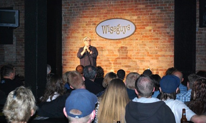 Wiseguys Comedy Club - Multiple Locations: $15 for a Comedy Night for Two with Two Sodas and One Appetizer at Wiseguys Comedy Club (Up to $34 Value)