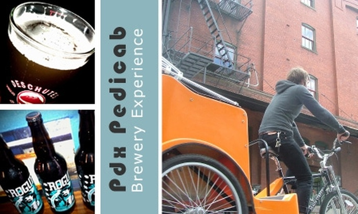 Pdx Pedicab - Multiple Locations: $30 for a Pedicab Brewery Experience from Pdx Pedicab ($65 Value)