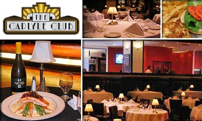 The Carlyle Club - Eisenhower East - Carlyle District: $22 for a Live Big-Band Ticket and $25 Worth of Savory Bites at The Carlyle Club ($50 Value). Buy Here for Friday, January 22. See Below for Additional Dates.