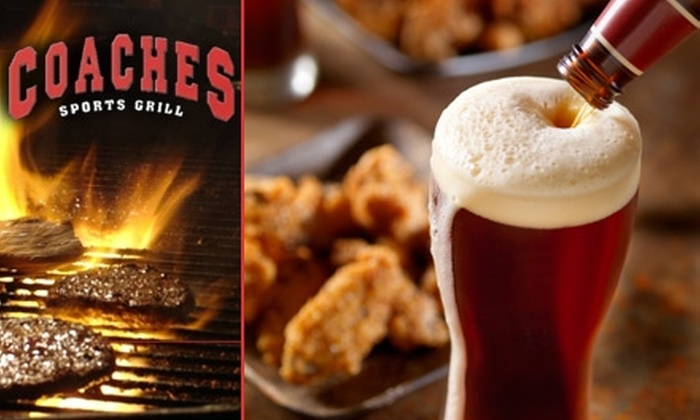 Coaches Sports Grill - Silver Hill: $10 for $20 Worth of Pub Fare and Drinks at Coaches Sports Grill