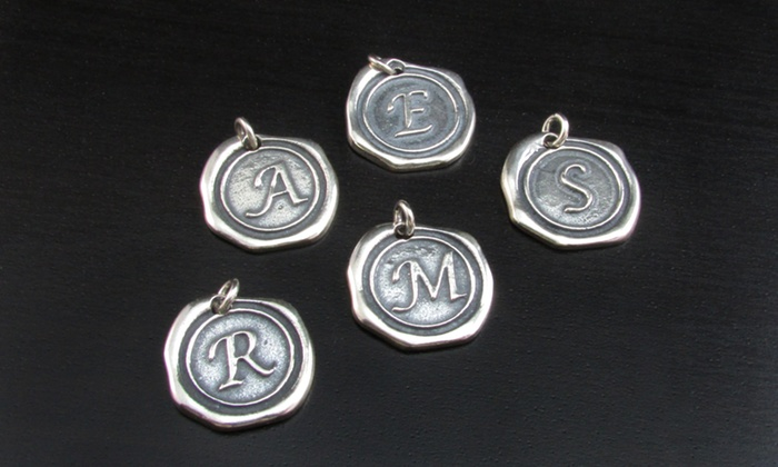 Namejewelryspot.com: Wax Seal Initial Charms