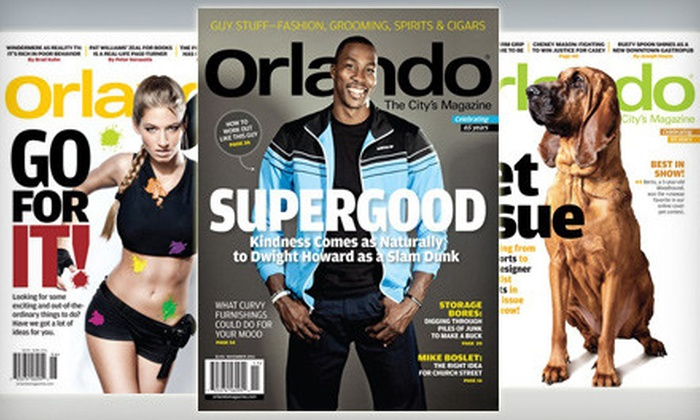 """Orlando"" Magazine: $9 for a One-Year Subscription to ""Orlando"" Magazine ($19.95 Value)"
