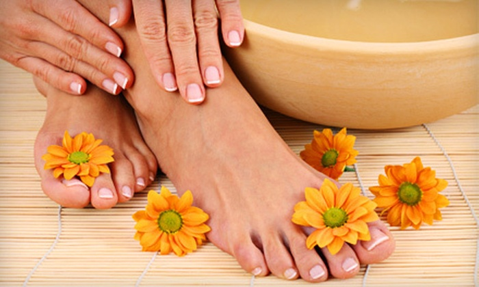 Lamar Spa - Sunnyside: Traditional Manicure and Spa Pedicure with Option for Hot-Stone Massage at Lamar Spa in Sunnyside (Up to 59% Off)