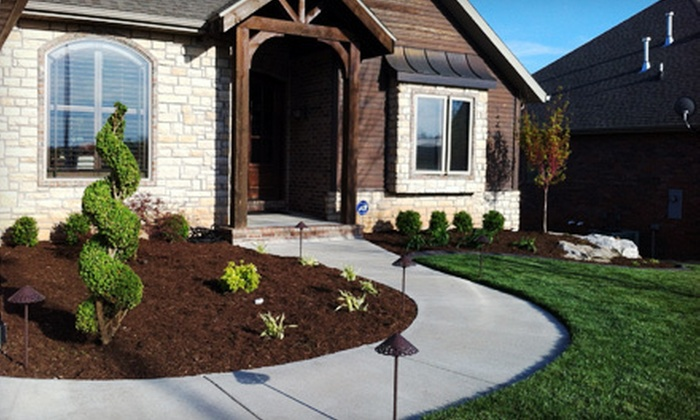 Ozark Outdoor Services - Center No. 1: Weed-Control Treatment with Preemergent Application or Landscaping Cleanup Package from Ozark Outdoor Services (Up to 74% Off)