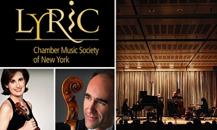 Lyric Chamber Music Society of New York - Upper East Side: $30 for 1 of 8 Performances at the Lyric Chamber Music Society. Buy Here for the Principal Players Series on 11/11. Additional Dates Below.