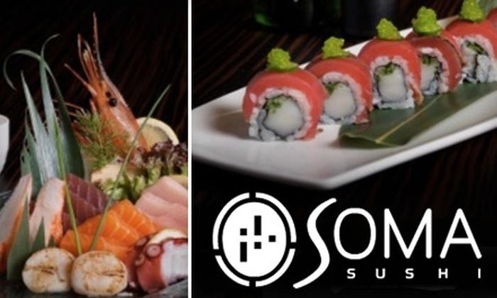 Soma Sushi - Washington Ave./ Memorial Park: $20 for $40 Worth of Sushi and More at Soma Sushi