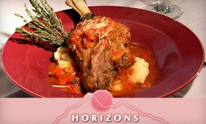 Horizons Restaurant & Bar - Wilbraham: $15 for $30 Worth of Cuisine at Horizons Restaurant & Bar
