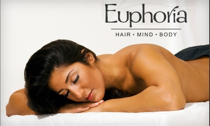 Euphoria Salon and Spa - Victor: $35 for a 60-Minute Swedish Massage or an Elemental Nature Facial from Euphoria Salon and Spa ($75 Value)