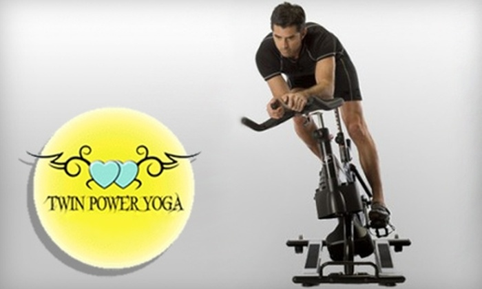 Twin Power Yoga & Cycle - Palm Beach Gardens: $49 for One Month of Unlimited Yoga or Cycling at Twin Power Yoga & Cycle in Palm Beach Gardens ($179 Value)