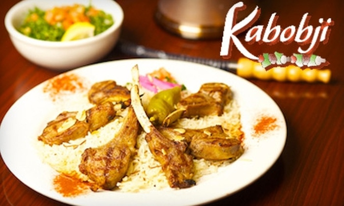 Kabobji - Multiple Locations: $15 for $30 Worth of Authentic Middle Eastern Fare at Kabobji Restaurant