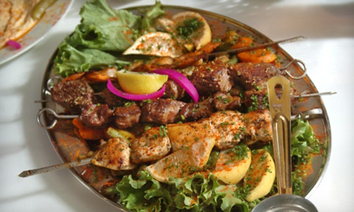 Sahara Mediterranean Cuisine - Michigan City: Two or Four Mezza Samplers or $15 for $30 Worth of Middle Eastern Fare at Sahara Mediterranean Cuisine in Michigan City