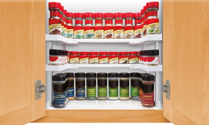 As Seen On Tv Spice Rack Magnificent As Seen On TV Spicy Shelf Groupon Goods