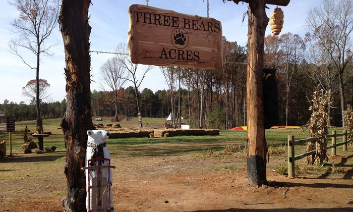 Three Bears Acres - Northern Wake County: Day Pass for One, Parent and Child Pass, or Family of Four Pass at Three Bears Acres (Up to 41% Off)