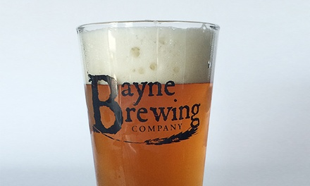 Flights of Beer, Pints of Beer, and Take-Home Glasses for Two or Four at Bayne Brewing Company (47% Off)