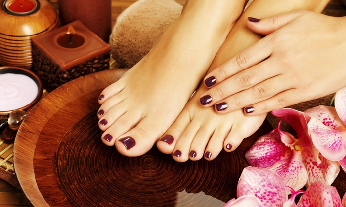 Salon D'Elegance - Carmichael: $26 for a Manicure and Pedicure at Salon D'Elegance ($60 Value)