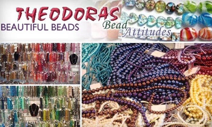 Theodora's Beautiful Beads - Gaithersburg: $20 for $40 Worth of Beading Supplies or $15 for a Beading or Craft Class ($30 Value) at Theodora's Beautiful Beads